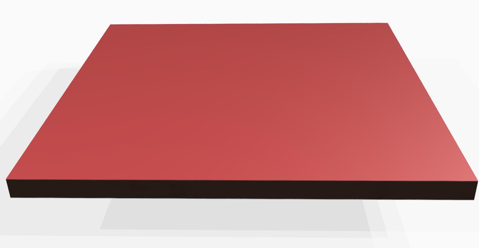 Vollkunststoff 10 mm ähnlich RAL 3000, rot