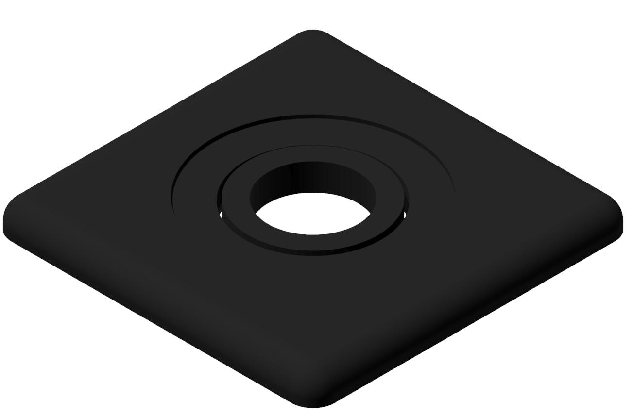 Abdeckkappe 45x45 LO, schwarz-10