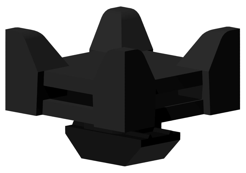 Kabelbinder-Block Varia 830, schwarz