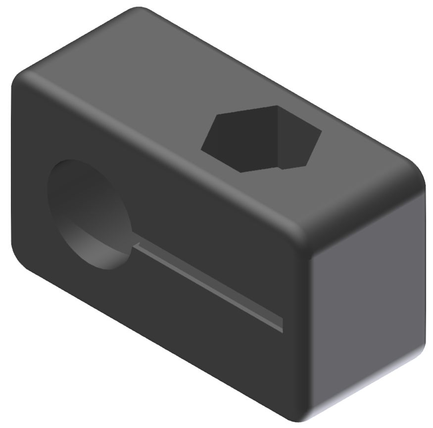 Endschalterhalter D8, schwarz-8