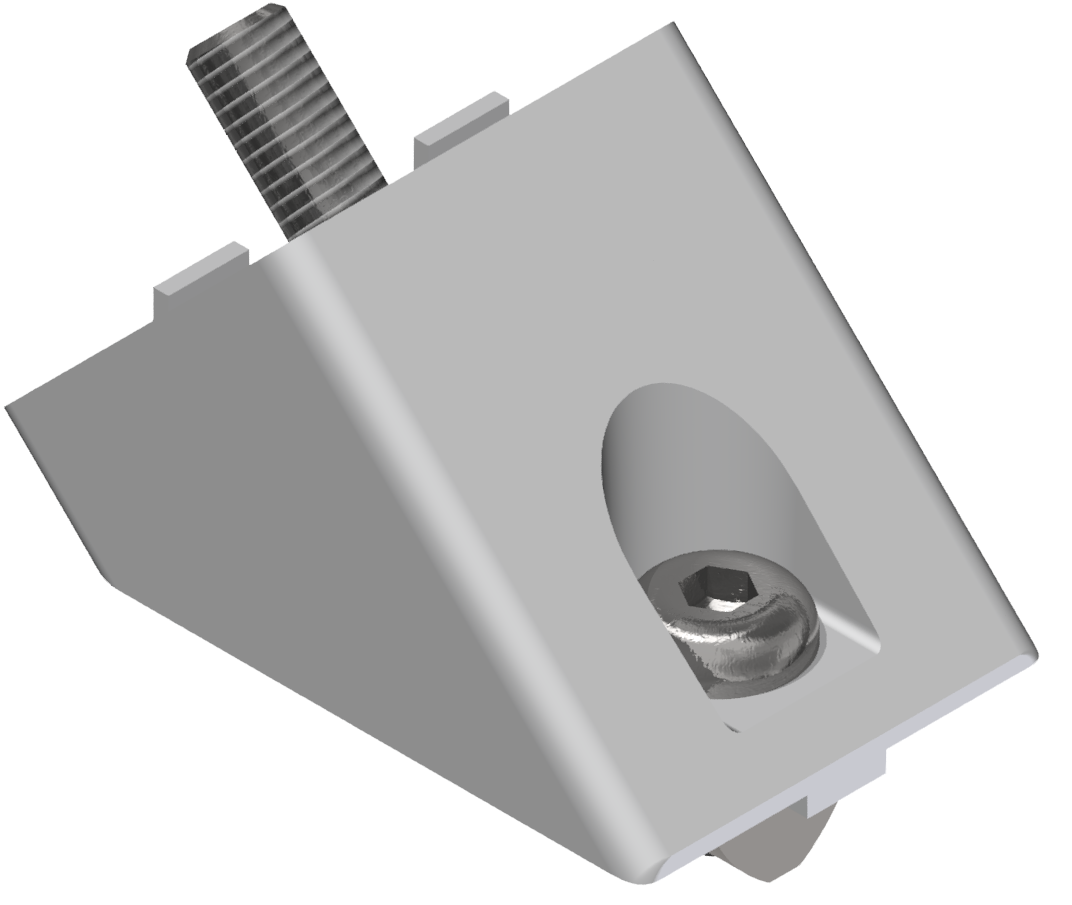 Winkelverbindersatz 40x40 45°, weißaluminium-8