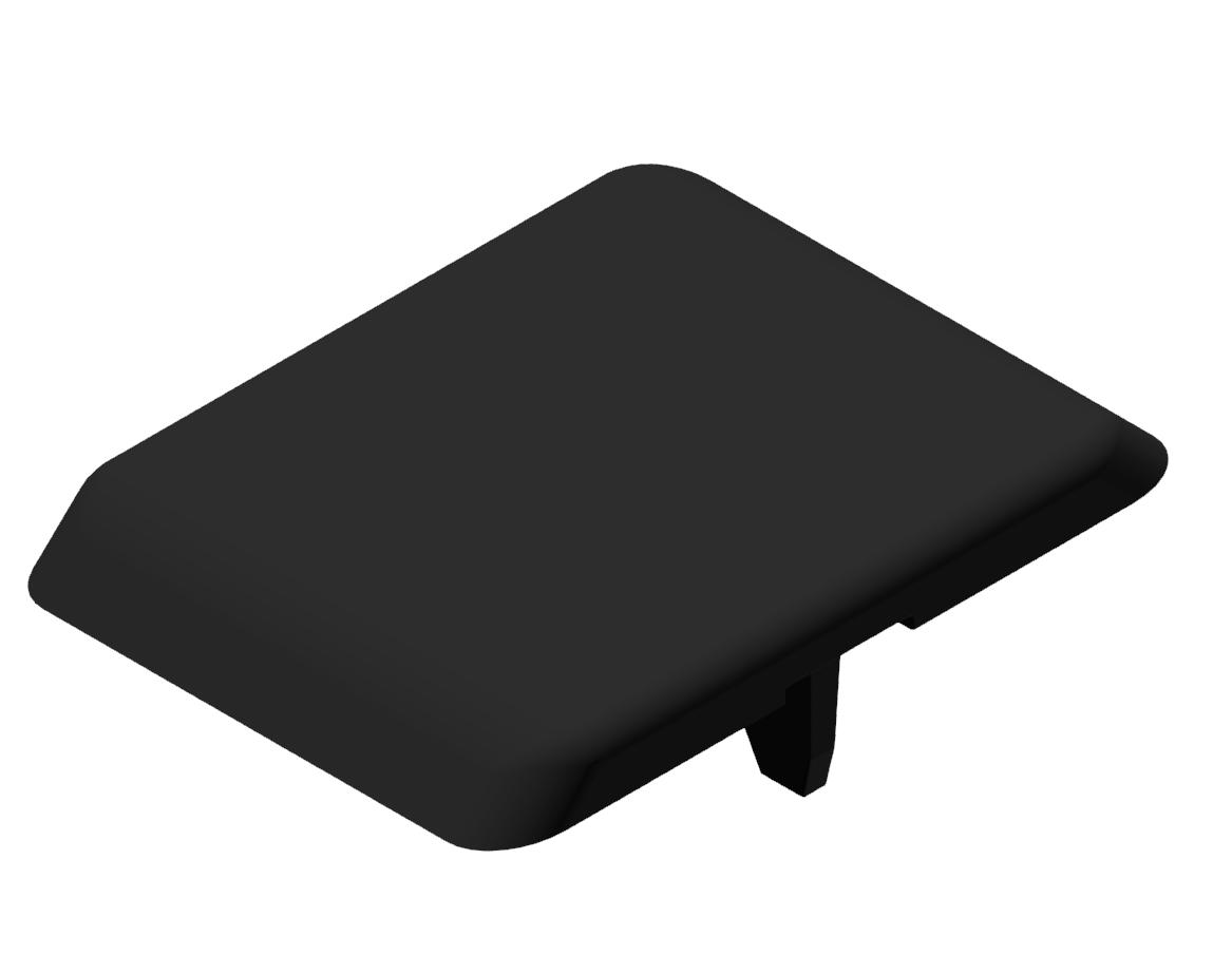 Automatik-Winkel-Abdeckkappe 8 40x40, schwarz