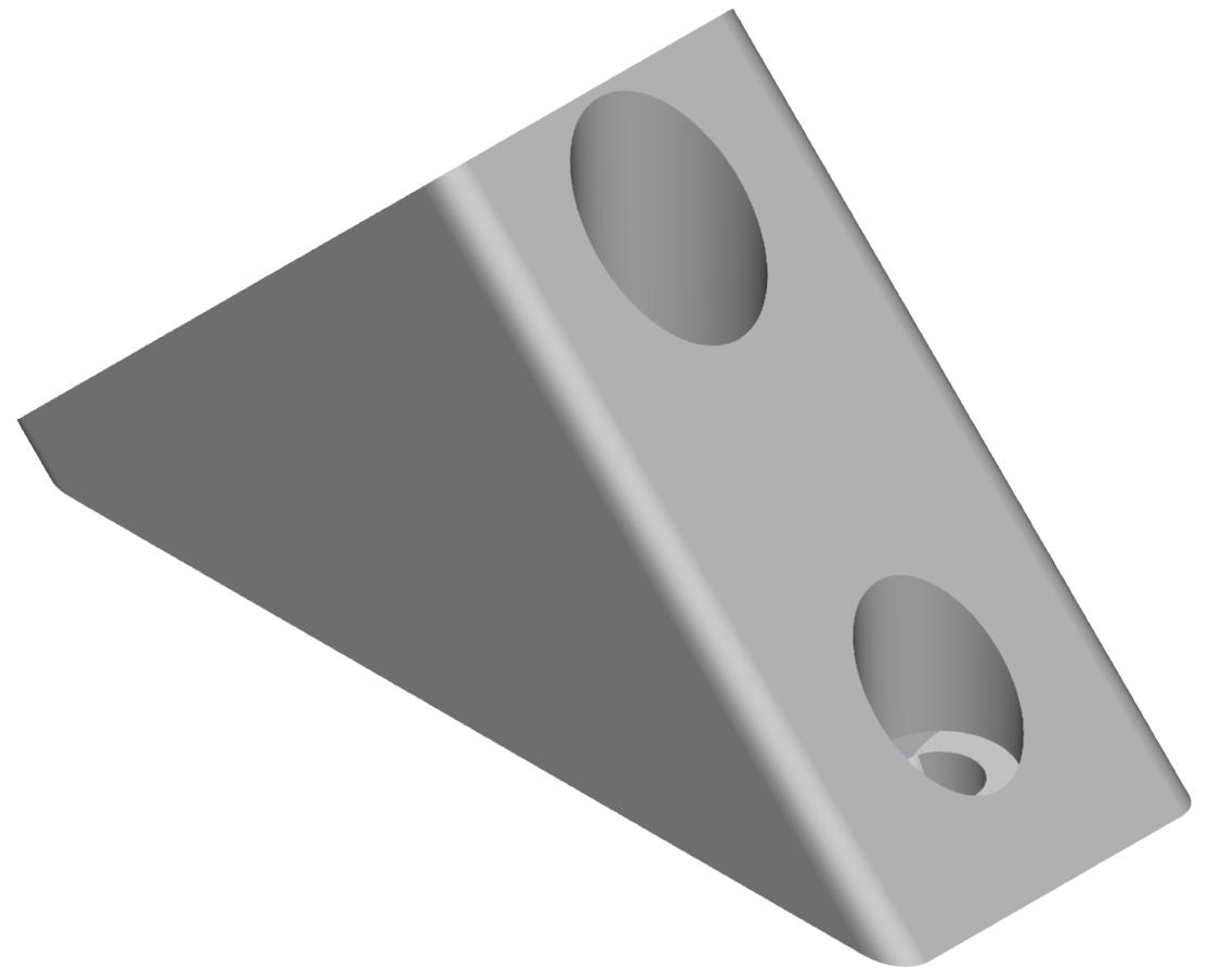 Winkelverbinder 40/80 45°, weißaluminium-8