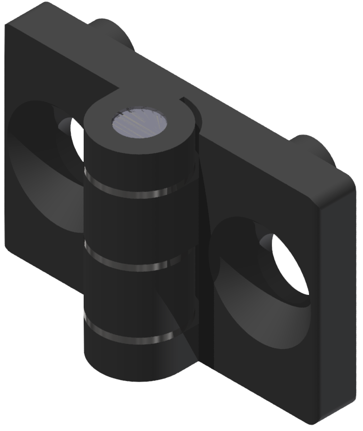 Scharnier 5 PA, schwarz