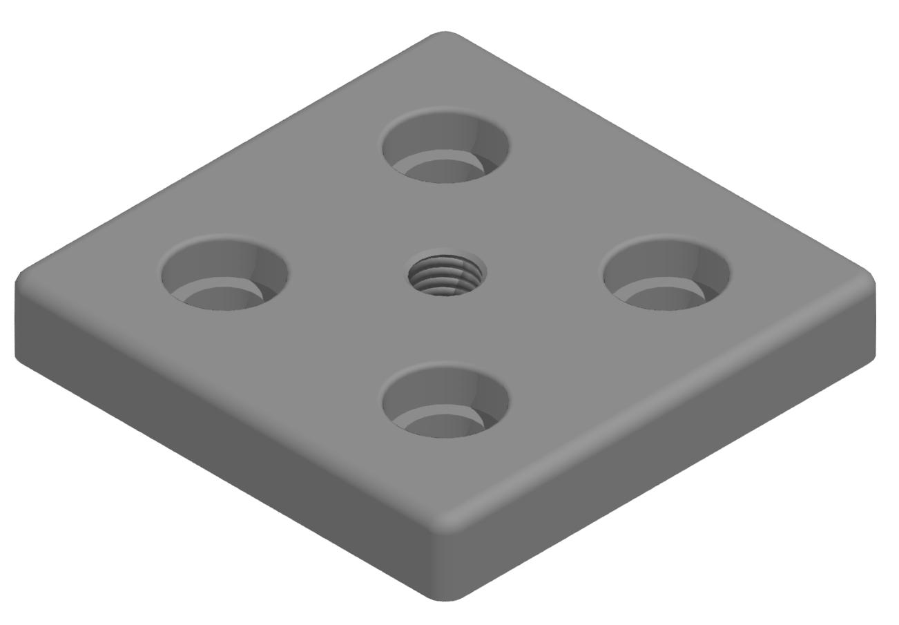 Fußplatte 100x100 M14 - 10