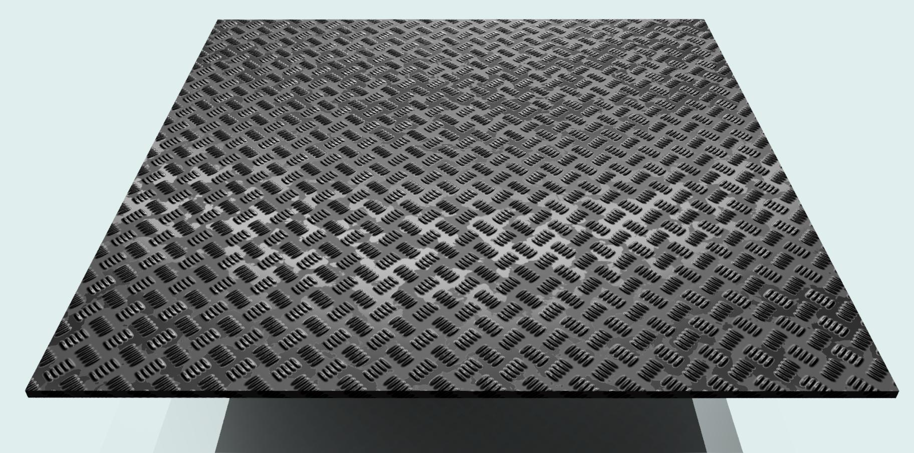 Riffelblech Al 2,5 mm, blank