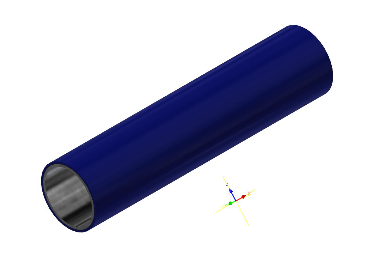 M-Rohr 1 mm dunkelblau