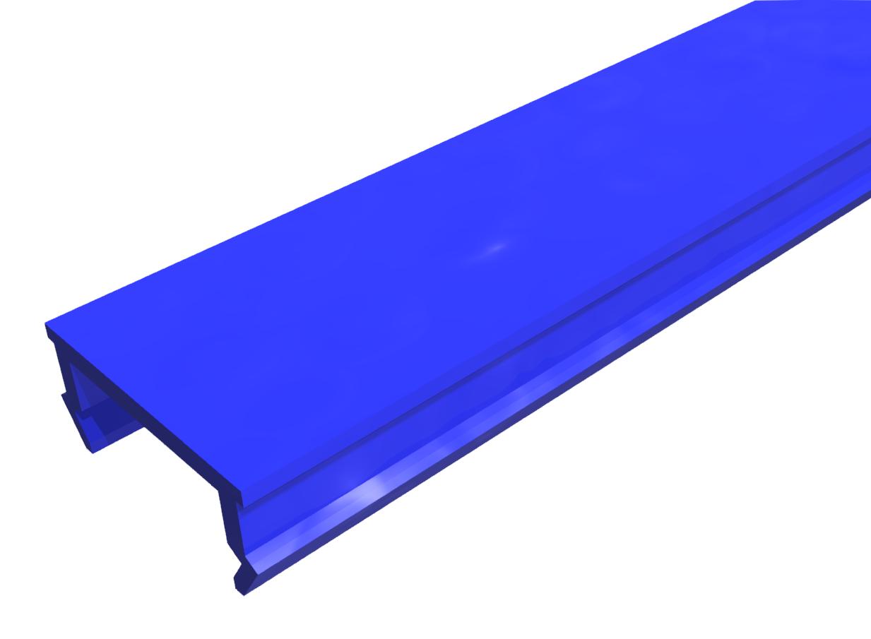 Abdeckprofil PP blau-8