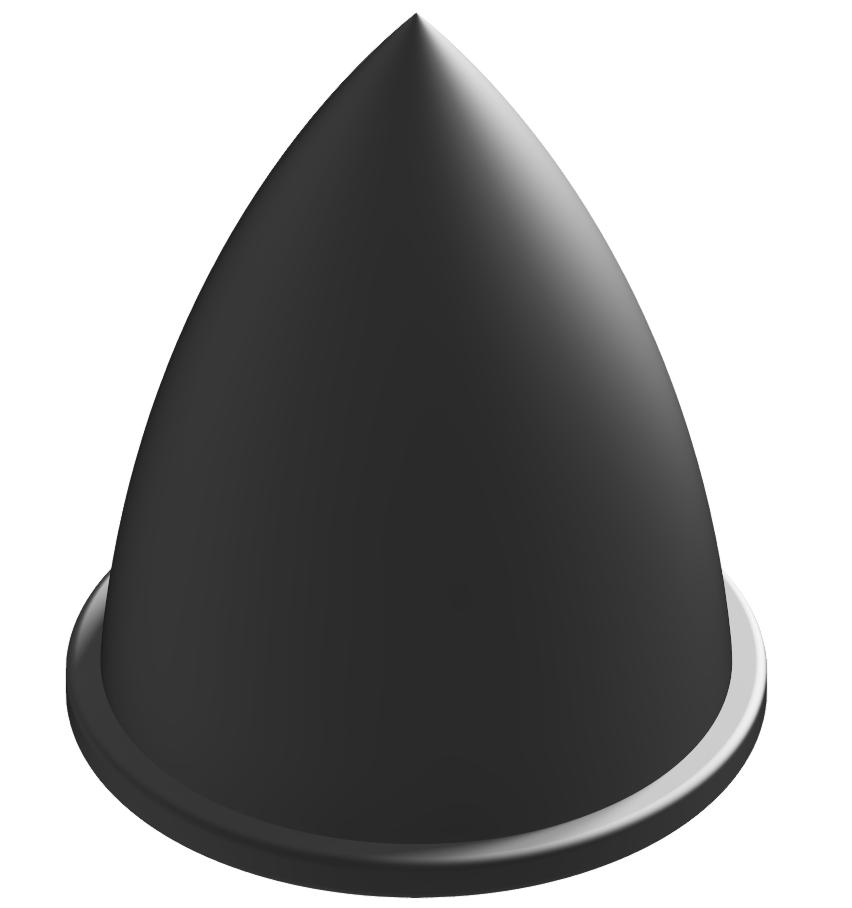 Parabel-Feder M8 D30x36, schwarz