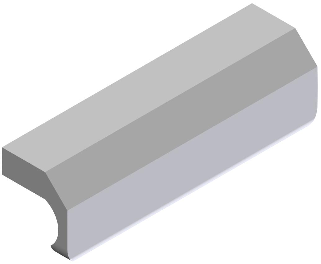 Griffleiste X 8 PA 60, grau