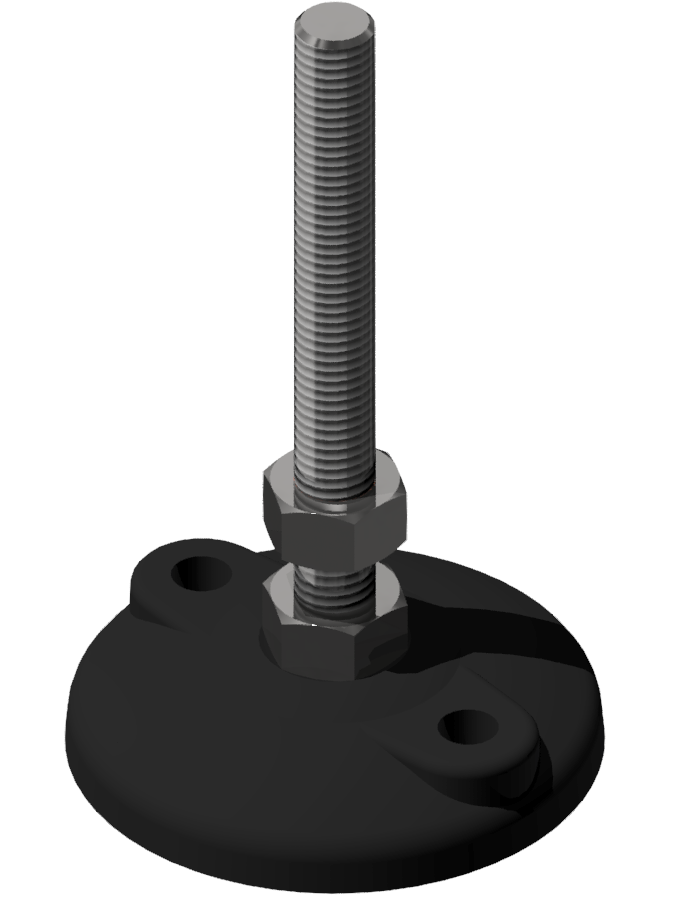 Stellfuß DÜ ZN D80 M12x130, schwarz-8