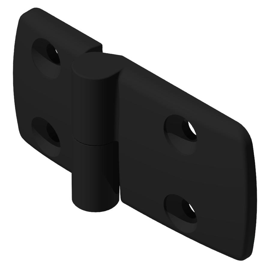 Kombischarnier links 40x60 PA, schwarz -10