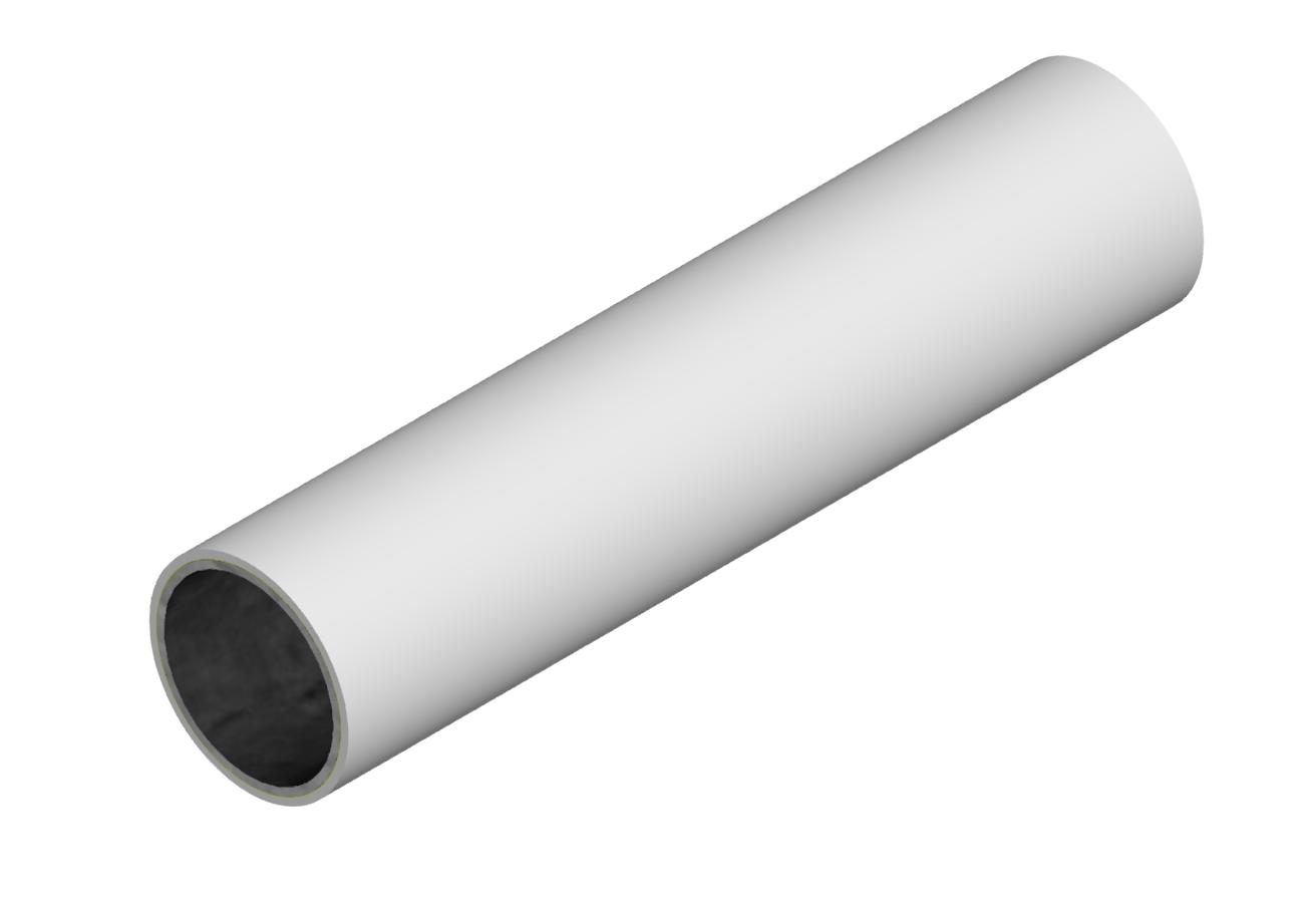 M-Rohr 1 mm grau