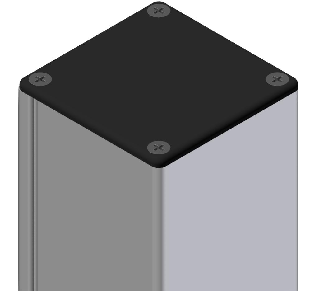Abdeckkappe Kabelkanal 80x80, schwarz-8