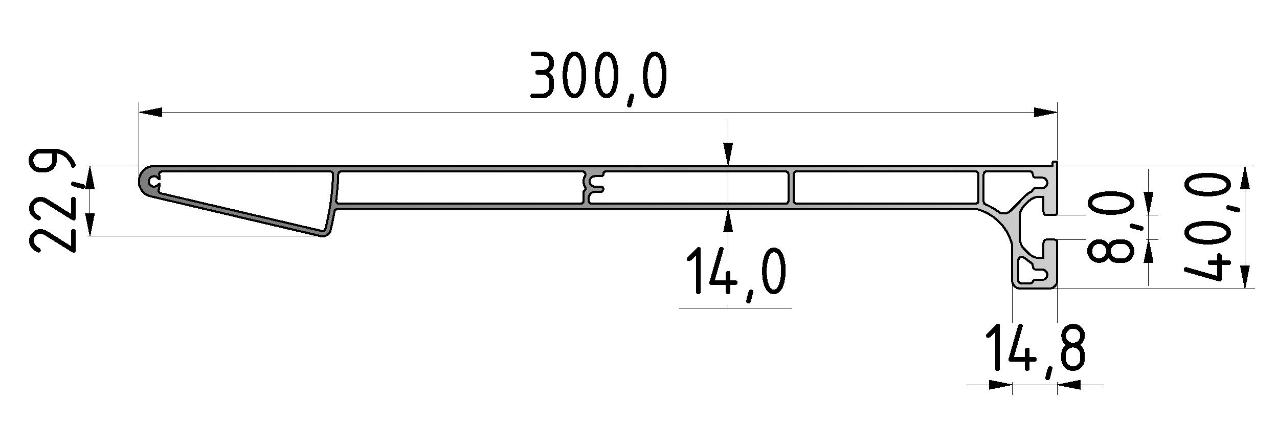 Regalbodenprofil 300, natur-8