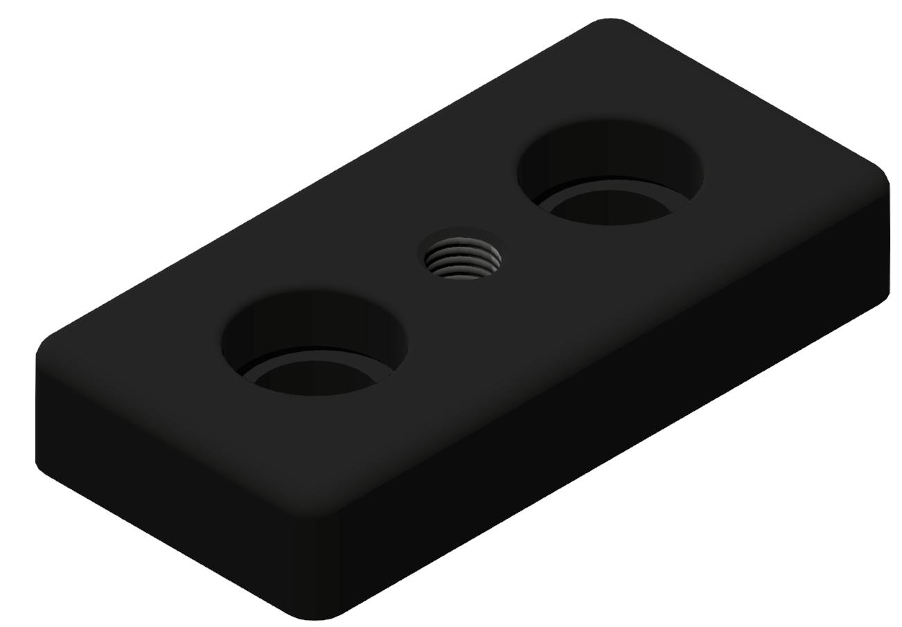 Fußplatte 45x90 M10, schwarz-10