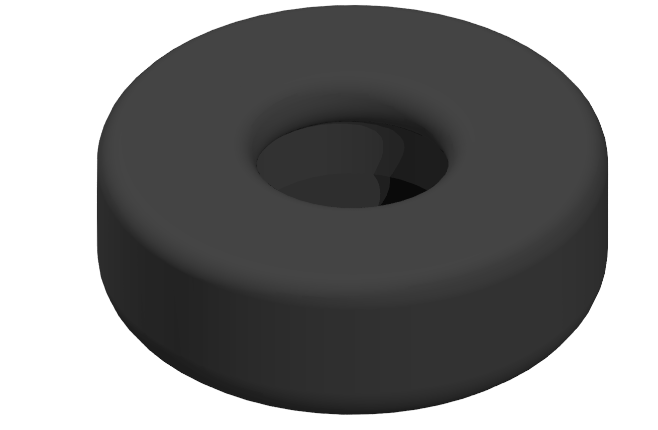 Gummieinsatz A D30, schwarz