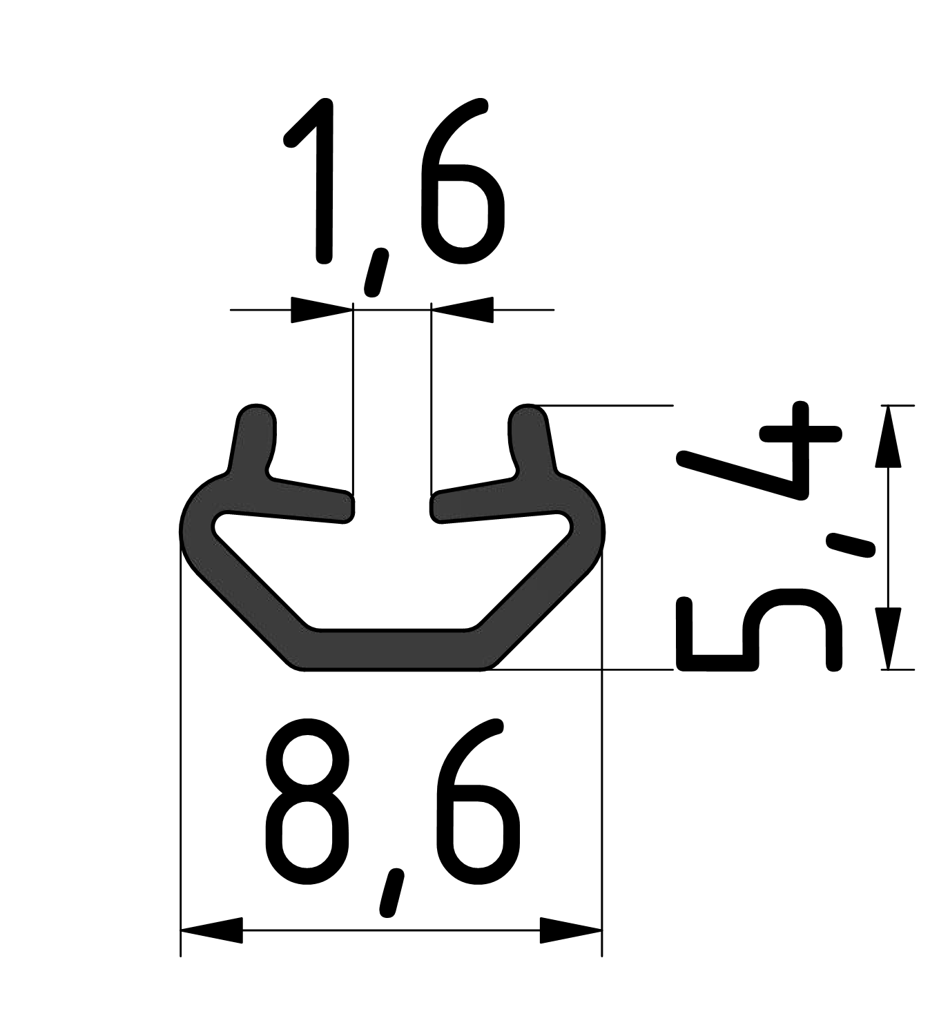 Abdeck - und Einfassprofil, schwarz-6