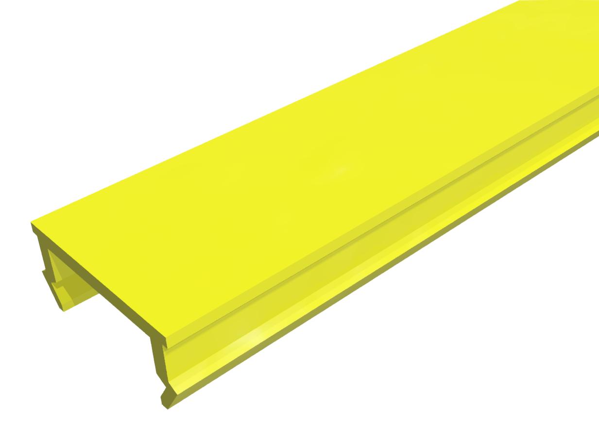 Abdeckprofil PP gelb-8
