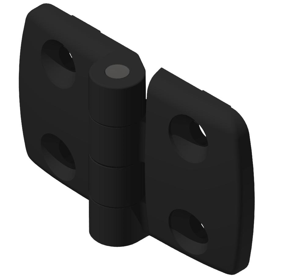Kombischarnier fest 40x40 PA, schwarz -10