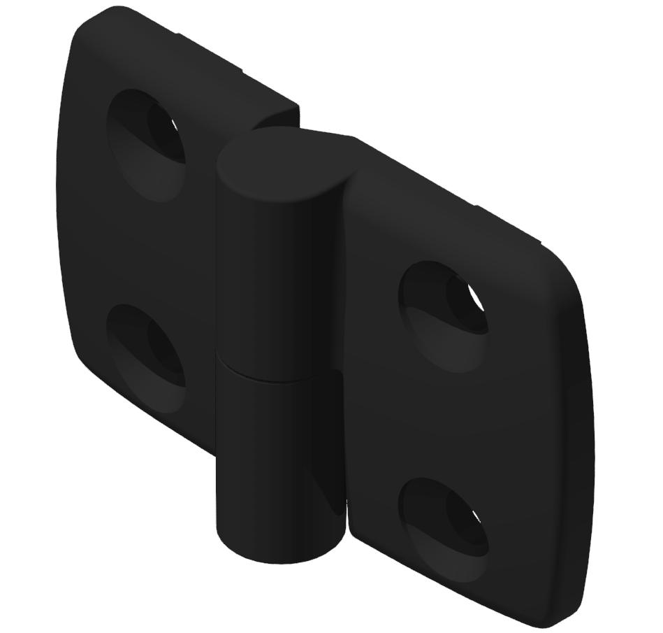 Kombischarnier links 40x40 PA, schwarz -10