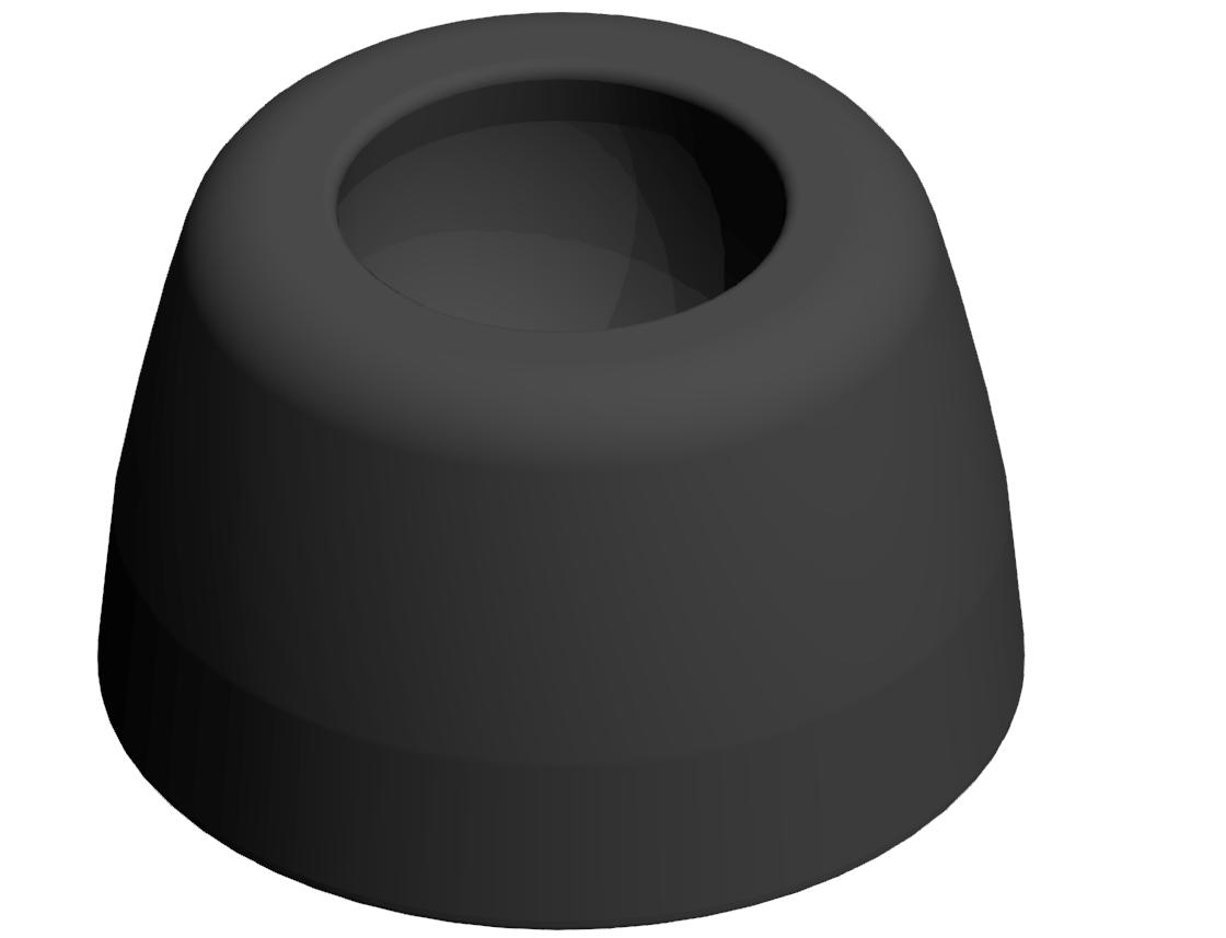 Teller A D30 PA, schwarz