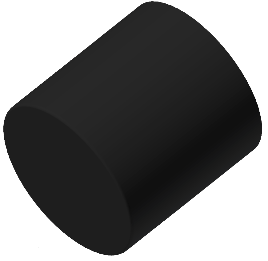 Anschlagpuffer, schwarz - Alu