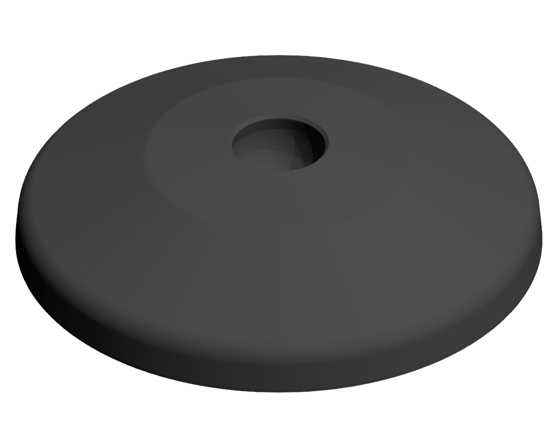 Teller A D80 ZN, schwarz