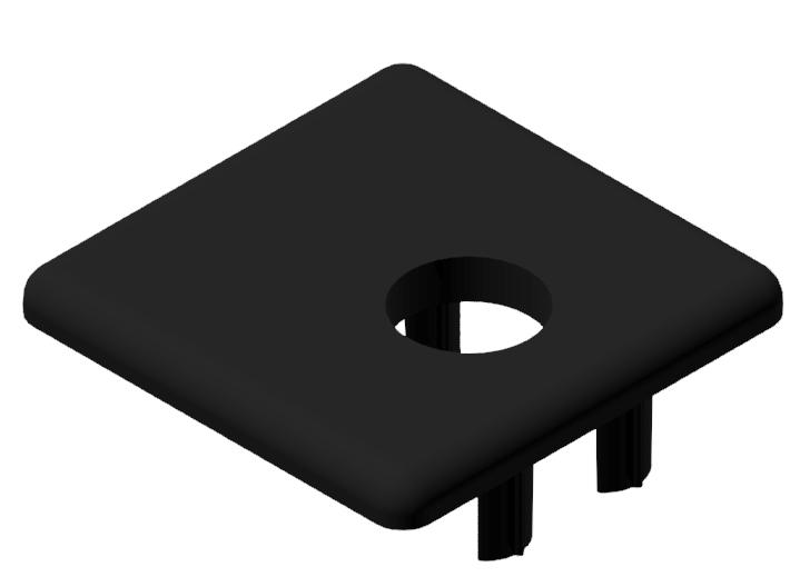 Abdeckkappe 30x30WG40, schwarz-8