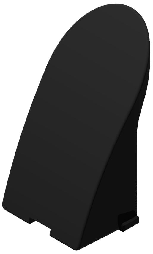Abdeckkappensatz für Maschinengriff 8, schwarz