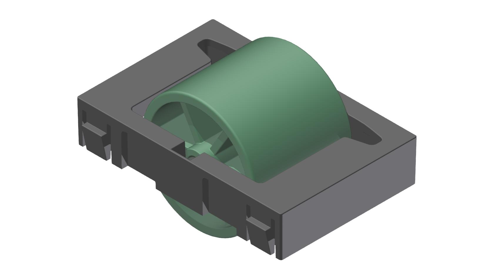 Rollenelement D28, grün-schwarz - Alu