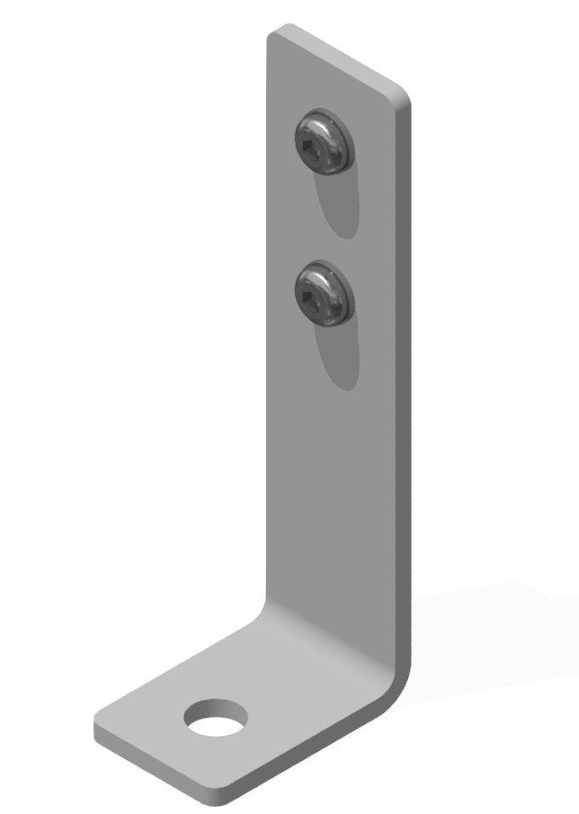Bodenwinkelsatz 160x60x40-St, weißaluminium-8