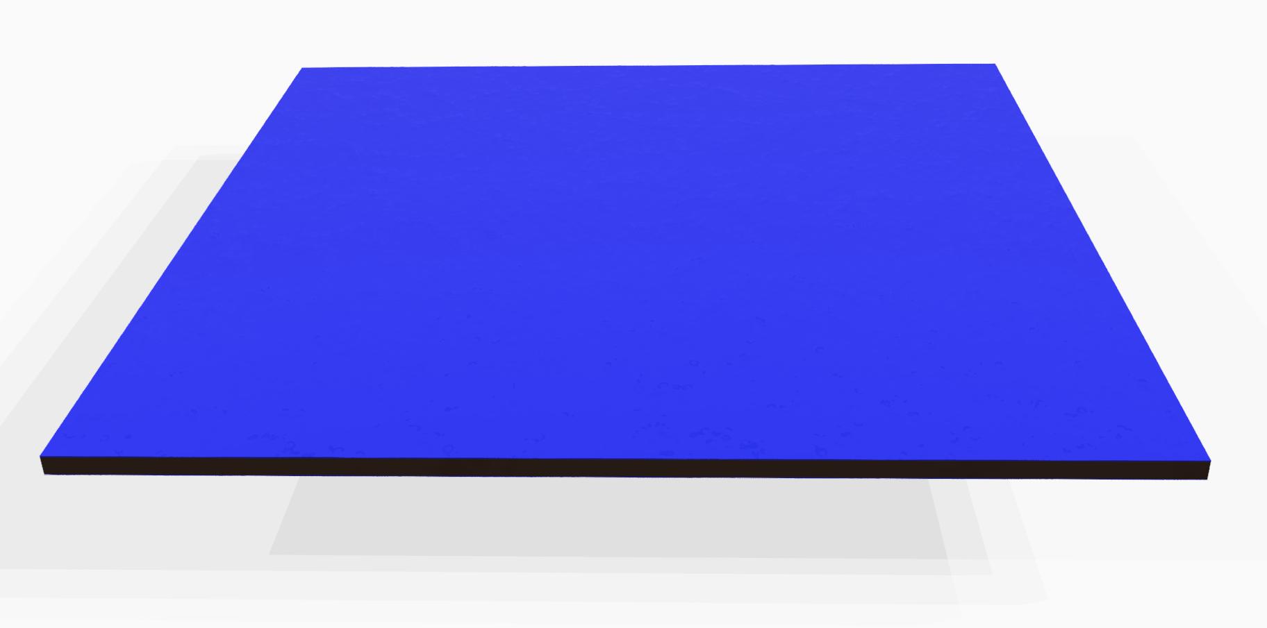 Vollkunststoff 4 mm ähnlich RAL 5024, blau