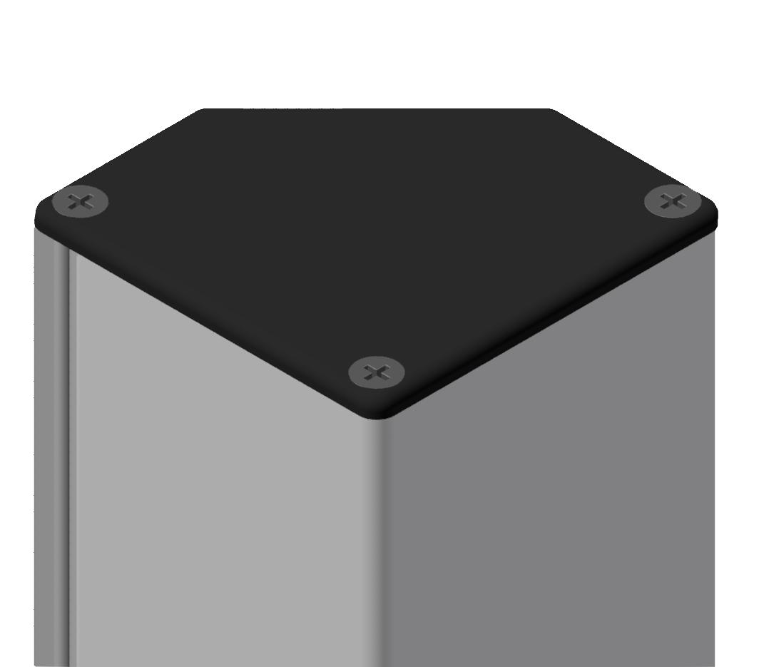 Abdeckkappe Kabelkanal 80x80 -45° R, schwarz-8