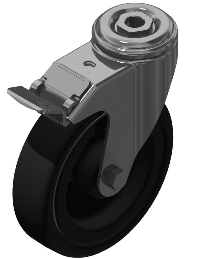 Lenkrolle D 125 mit Bremse ESD, verzinkt