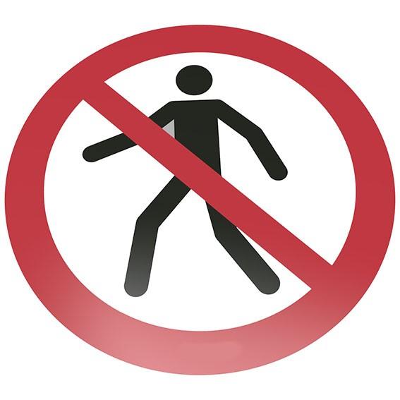 Für Fußgänger verboten Bodenschild