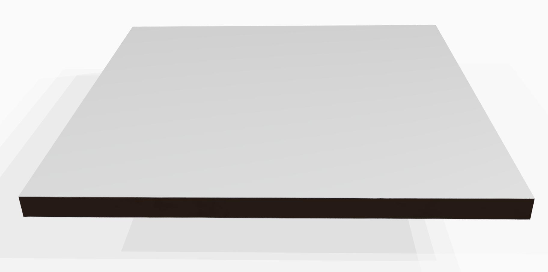 Vollkunststoff 10 mm ähnlich RAL 9016, weiss
