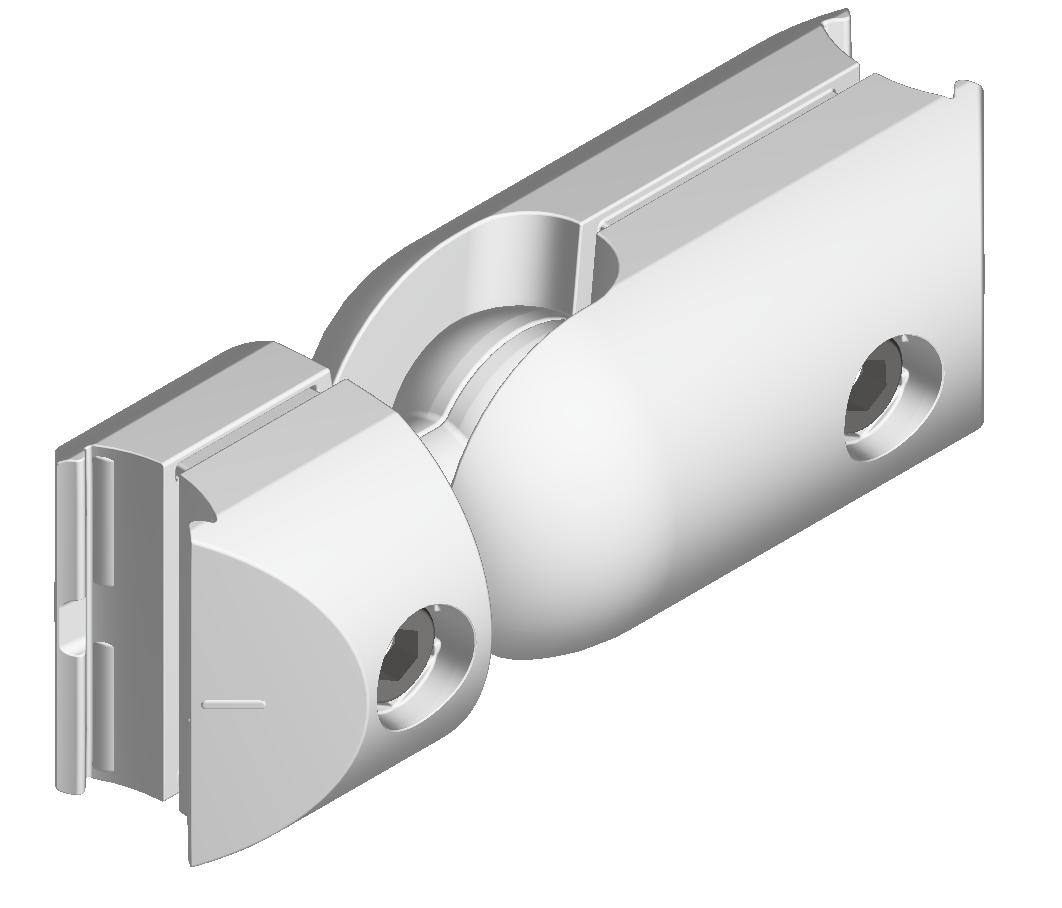 Kugel-Kreuzverbinderatz D30, natur