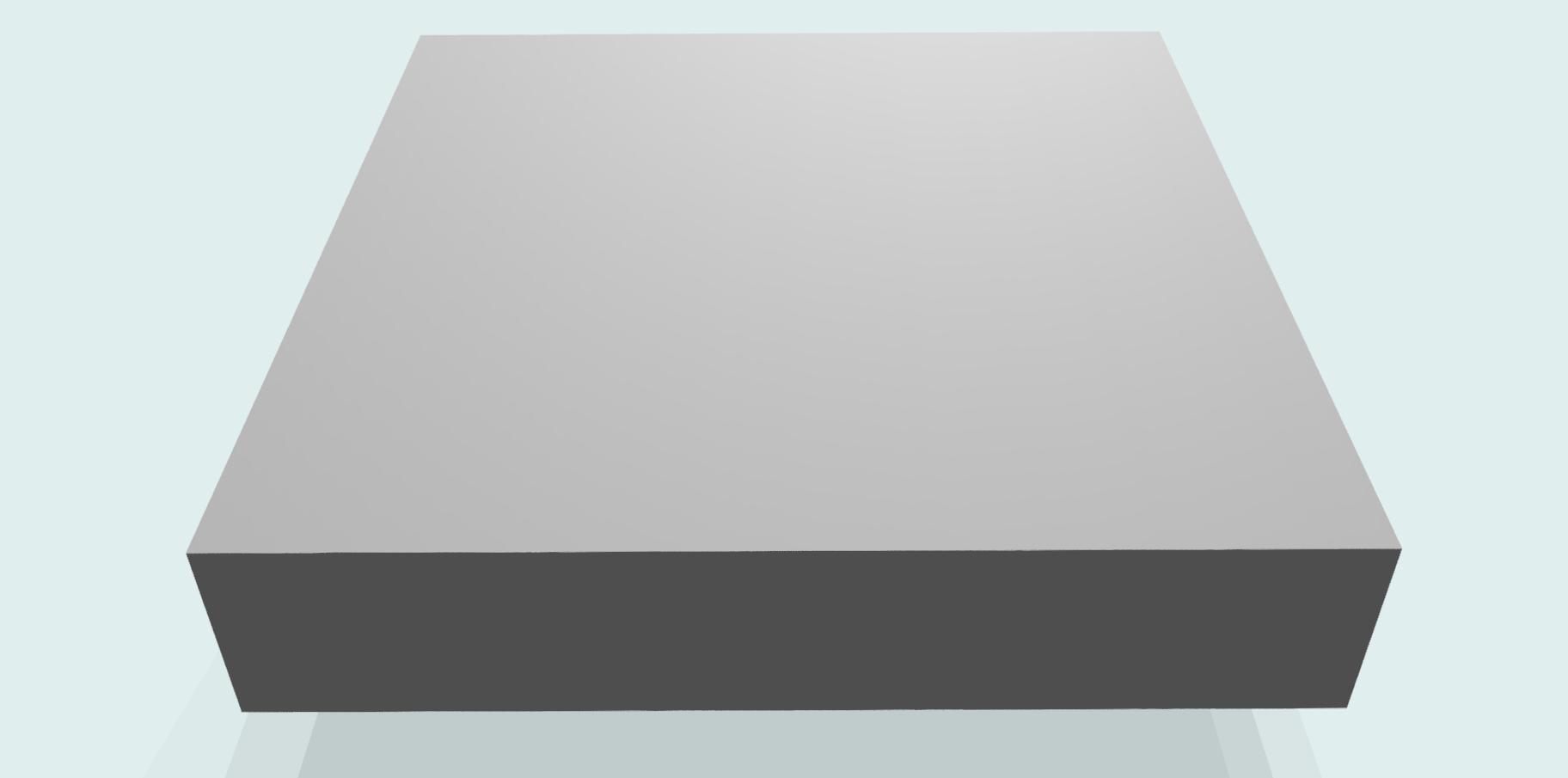 Tischplatte 30 mm melaminharzbeschichtet RAL 7035, grau