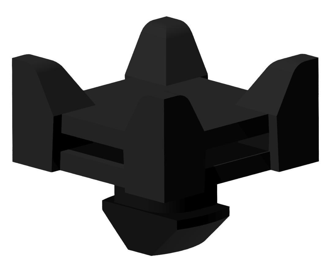 Kabelbinder-Block 8 Varia, schwarz