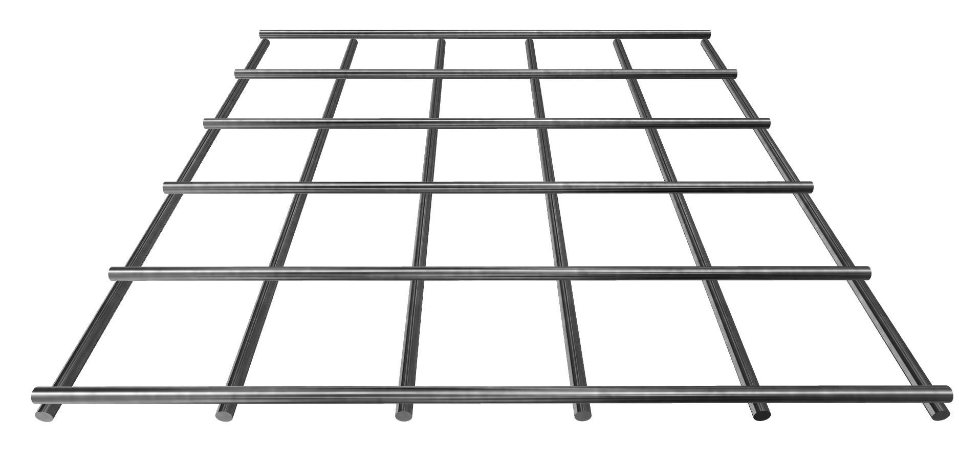 Stahlgitter 3,8 mm 40x40, blank