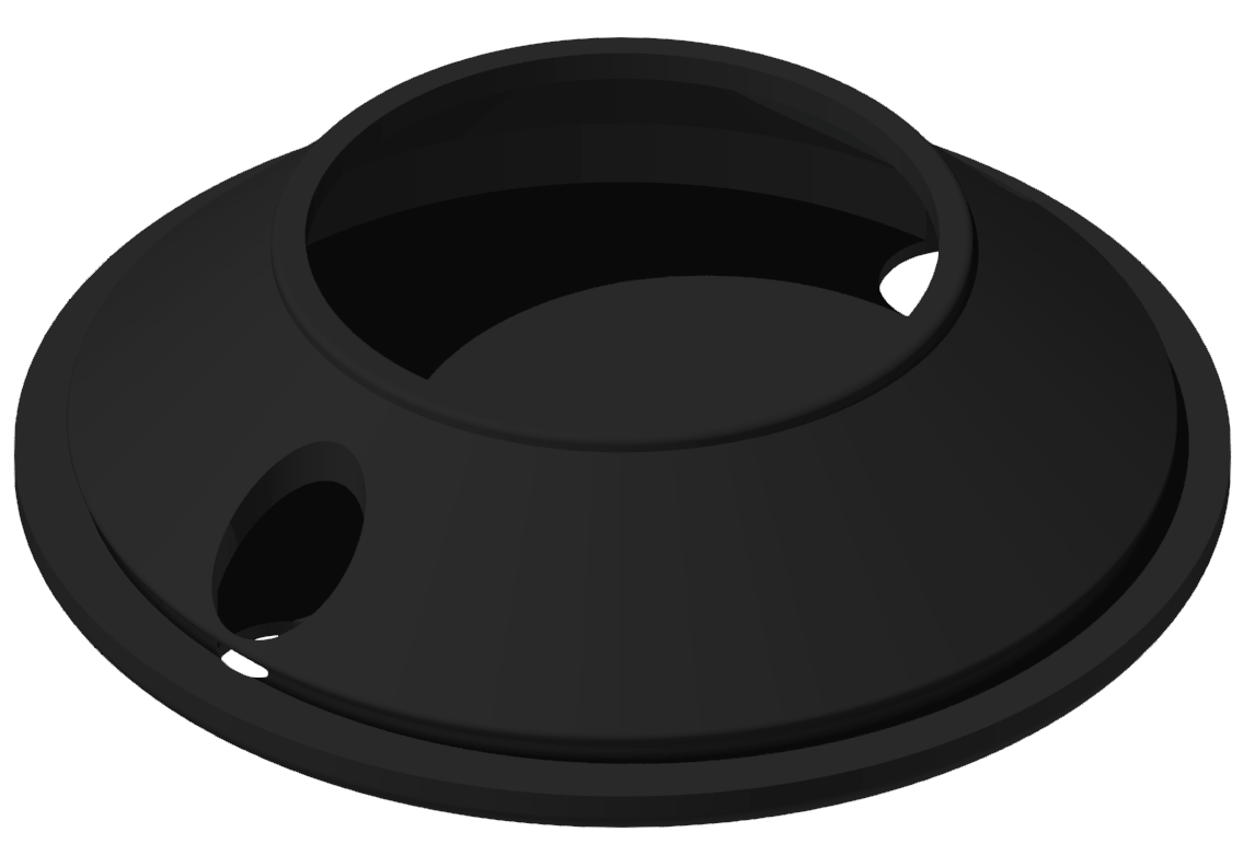 Gummieinsatz DÜ fest D80, schwarz-8