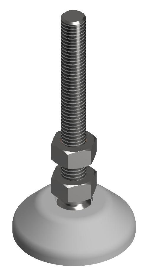 Stellfuß D40, M8x80, grau