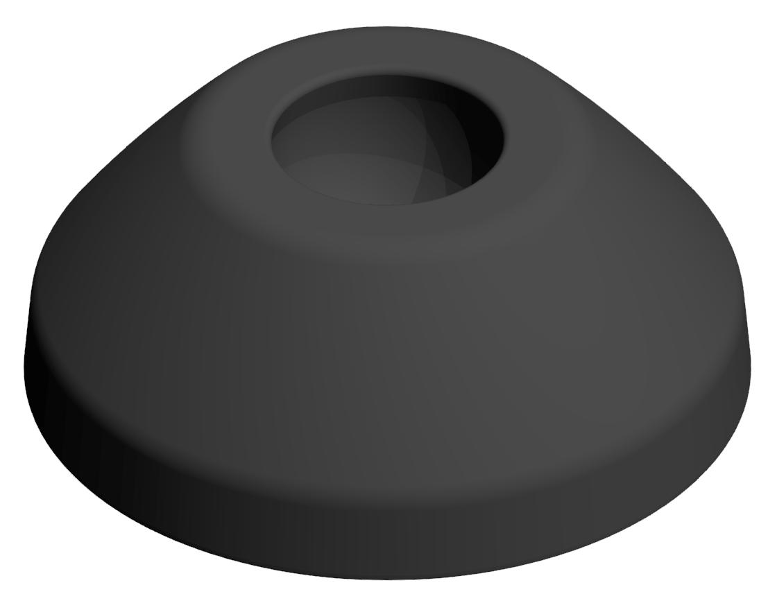 Teller A D45 PA, schwarz