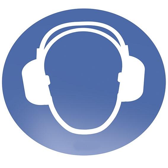 Gehörschutz tragen Bodenschild