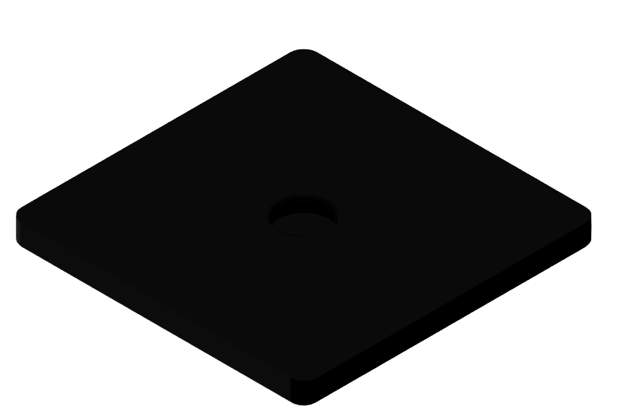 Gummieinsatz D D100, schwarz