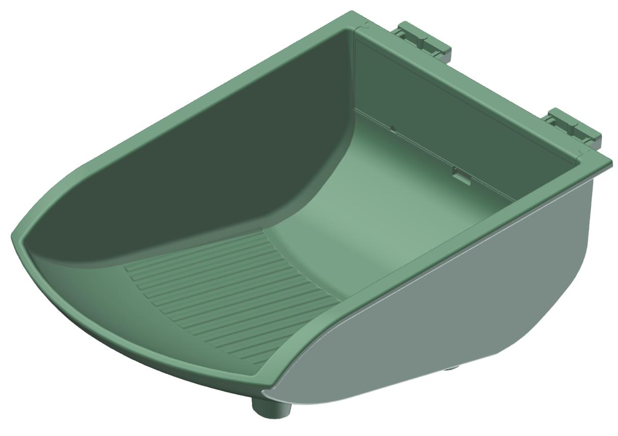 Greifschale 105x130, grün-8