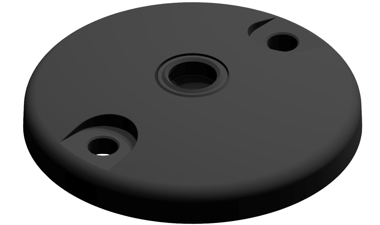 Teller A DÜ D100 ZN, schwarz
