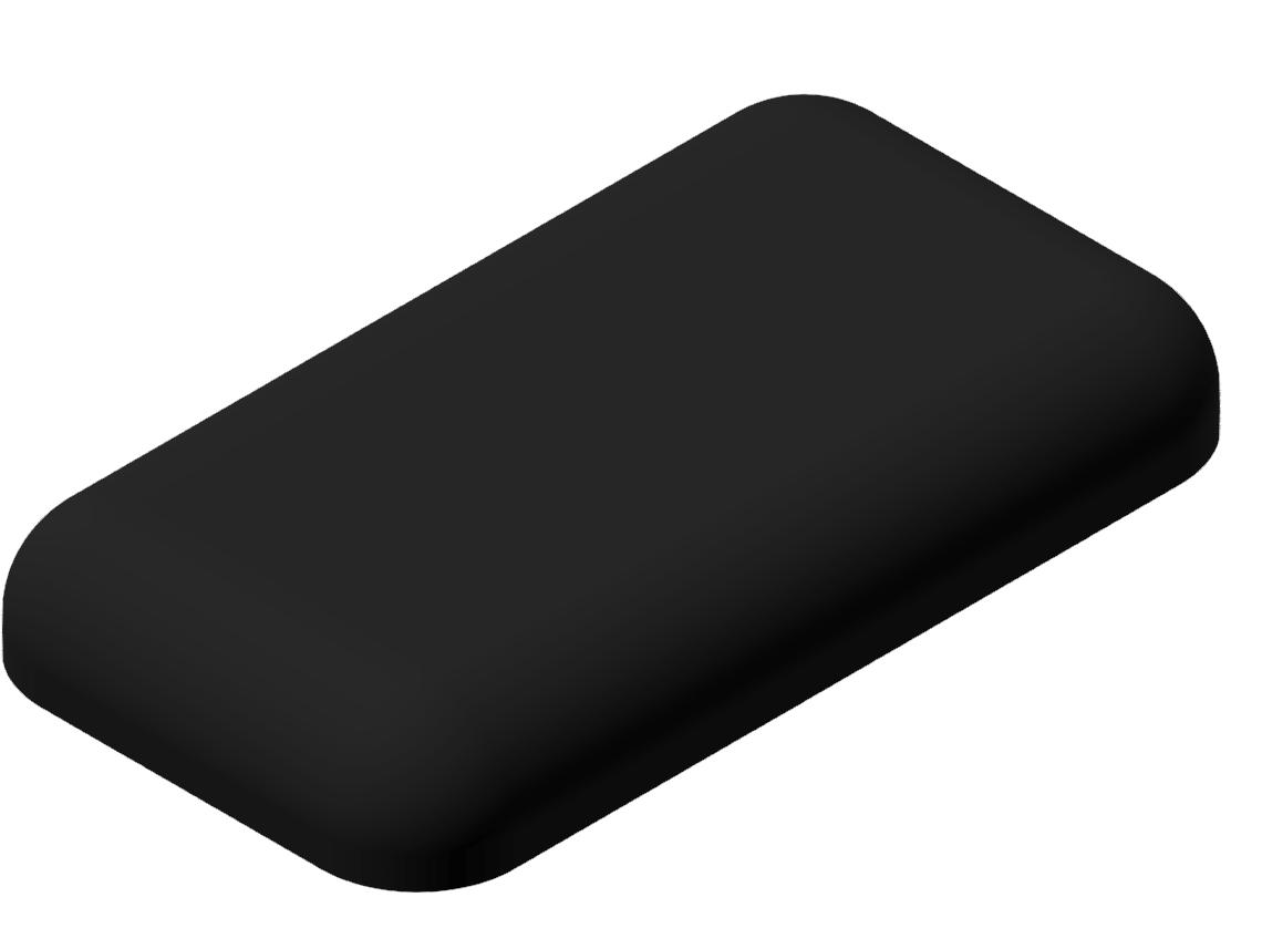 Abdeckkappe 11x20, schwarz-8