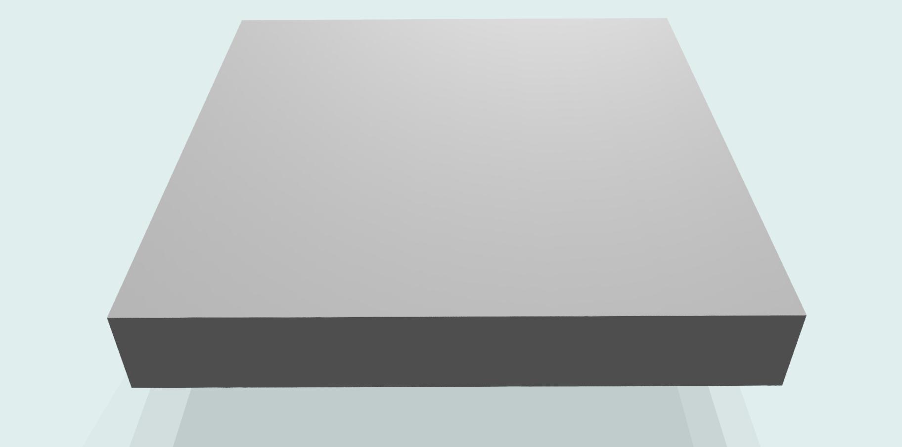 Tischplatte 28 mm melaminharzbeschichtet RAL 7035, grau